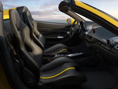 Interior del Ferrari 488